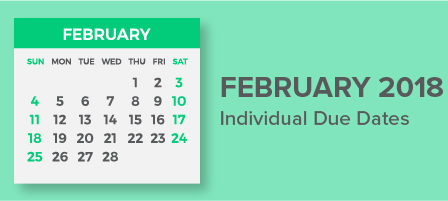 February 2018 Individual Due Dates