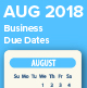 August 2018 Business Due Dates