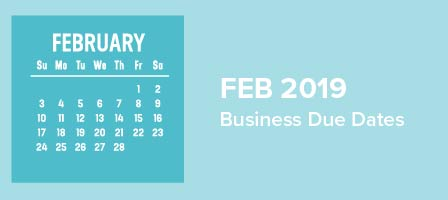 February 2019 Business Due Dates | Sum of All Numbers